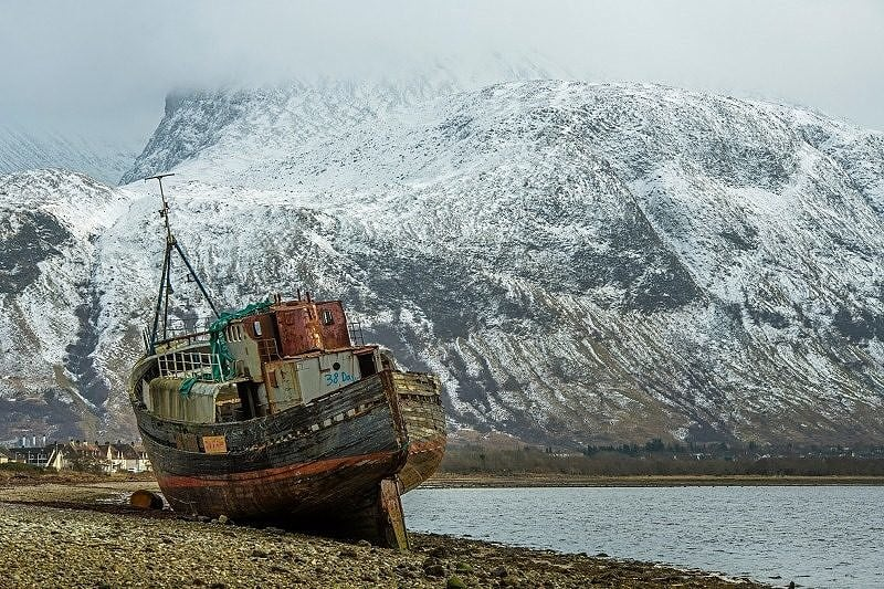 The 'Corpach Weeck' off Loch Linnhe with Ben Nevis behind