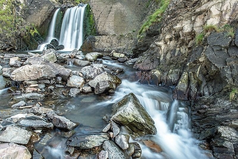 Waterfall Spekes Mill north Devon coast