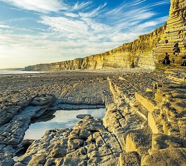 Nash Point Cliffs Summer Evening
