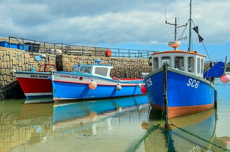 Boats Moored at Hugh Town St Marys Scillies