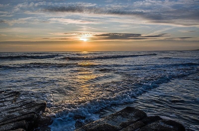 Sunset at Nash Point