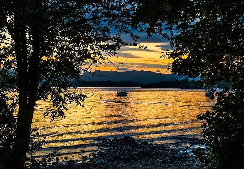 Sunset over Windermere from Millerground