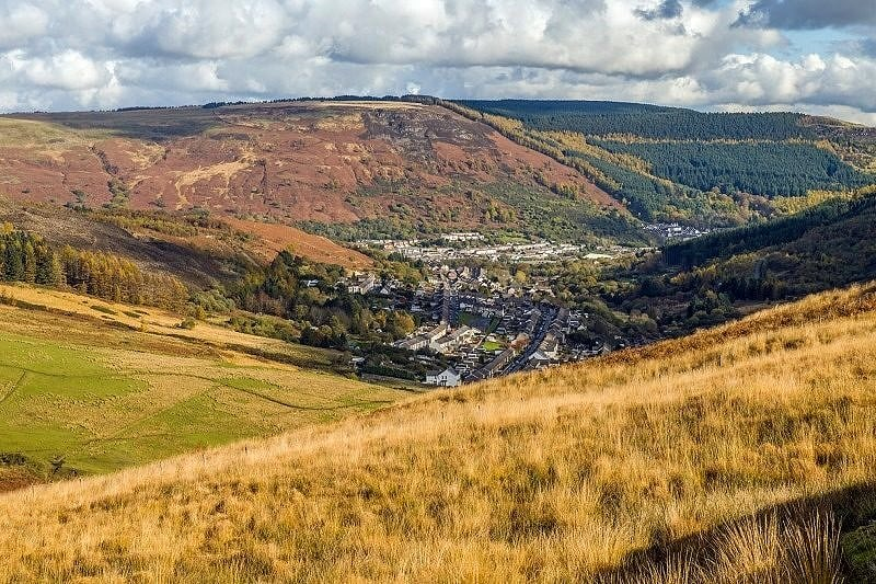 Cwmparc and Treorchy From the Bwlch