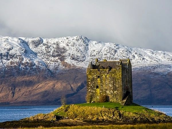 Castle Stalker on Loch Laich Argyll Scottish Highlands