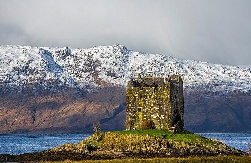 Castle Stalker on Loch Laich Argyll Scottish Highlands