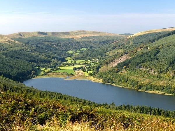 View up the Talybont Valley