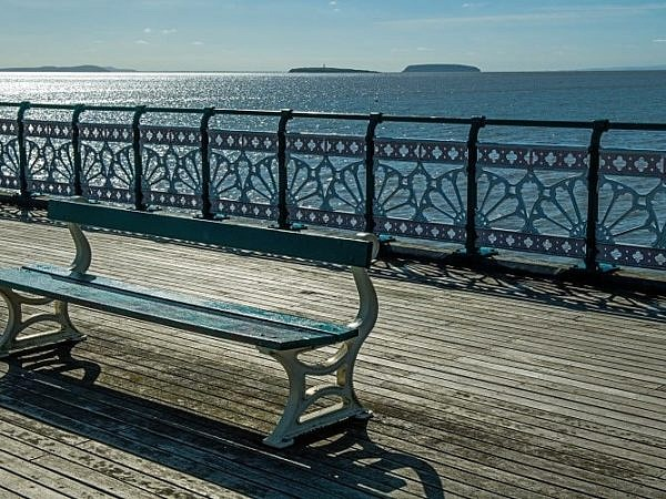 Bench on Penarth Pier