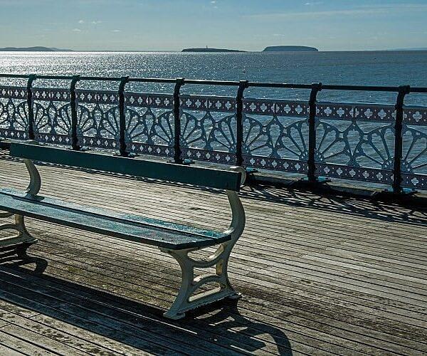 Bench on Penarth Pier