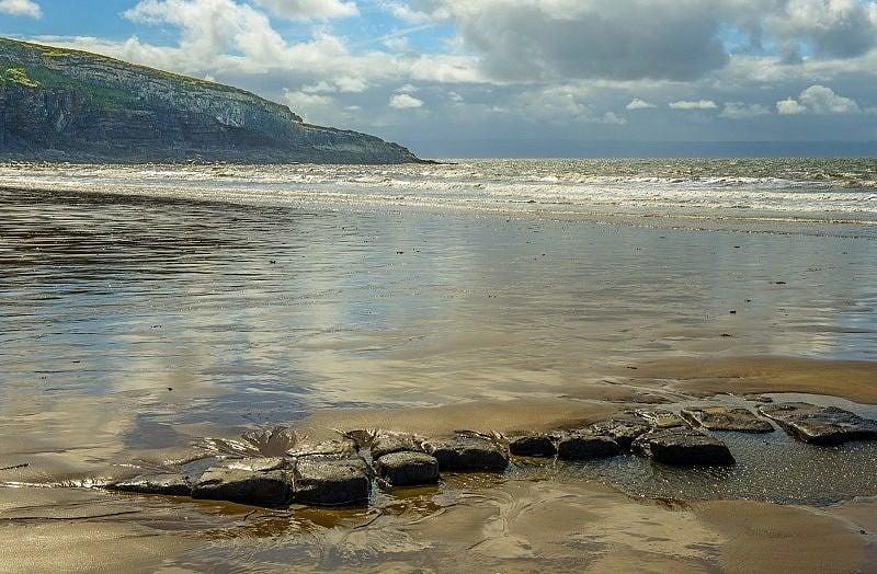 Dunraven Bay Receding Tide