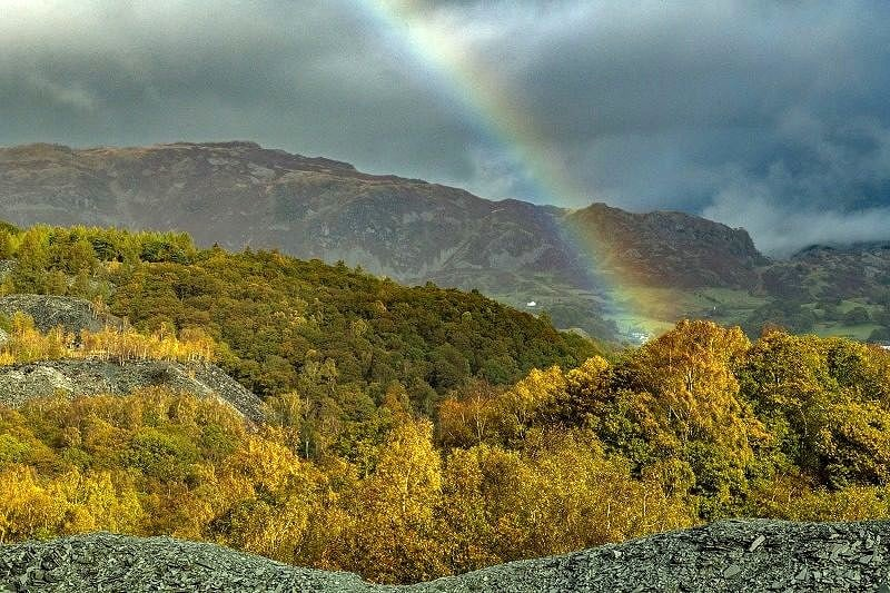 Rainbow Hodge Close Quarry Lake District
