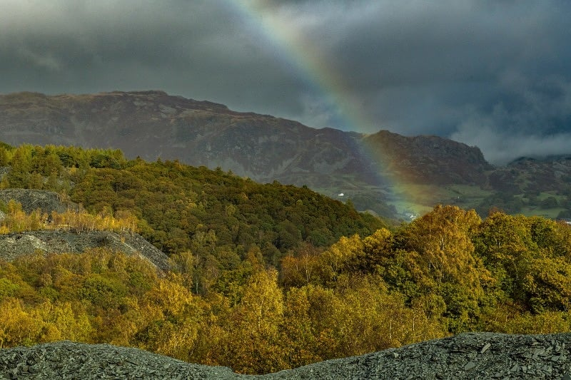 Rainbow Hodge Close Quarry Lake District