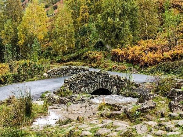Ashness Bridge in Winter Lake District