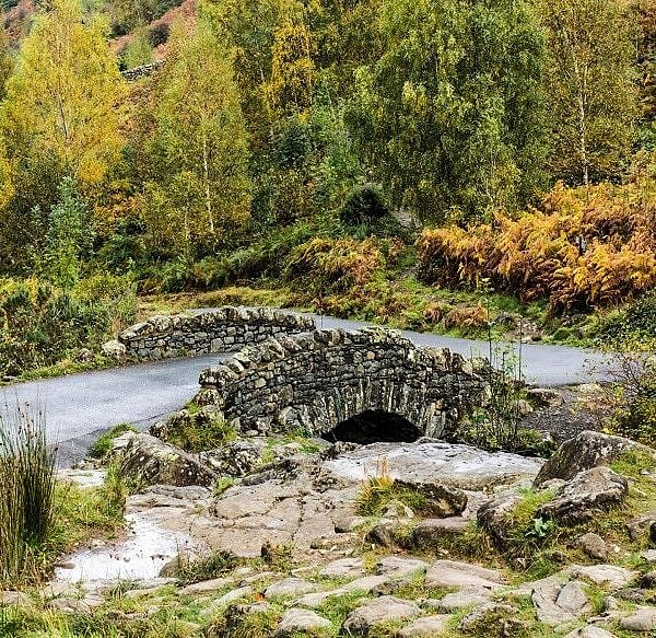 Ashness Bridge in Winter Lake District