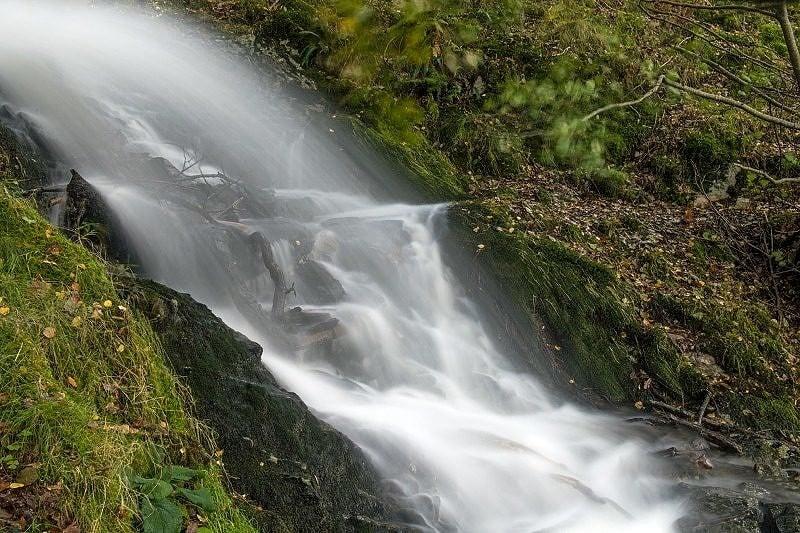 Waterfall Garreg Ddu Reservoir Elan Valley