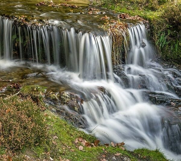 Waterfall at Garreg Ddu Reservoir Elan Valley