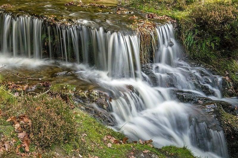 Waterfall at Garreg Ddu Reservoir Elan Valley