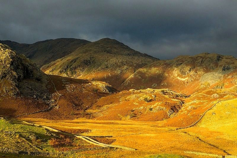 Autumn Light Coniston Fells Lake District