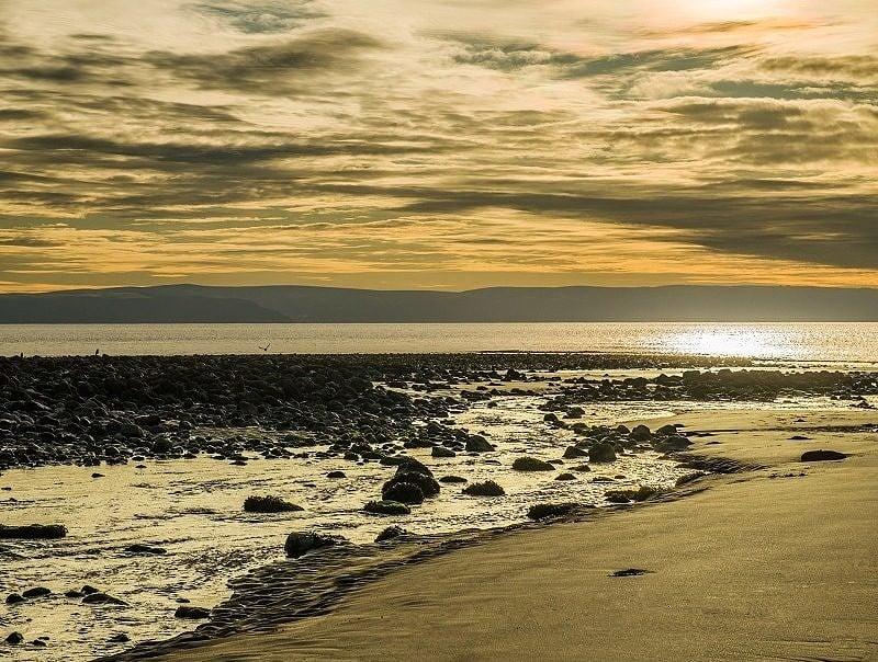 Llantwit Major Beach Winter Afternoon