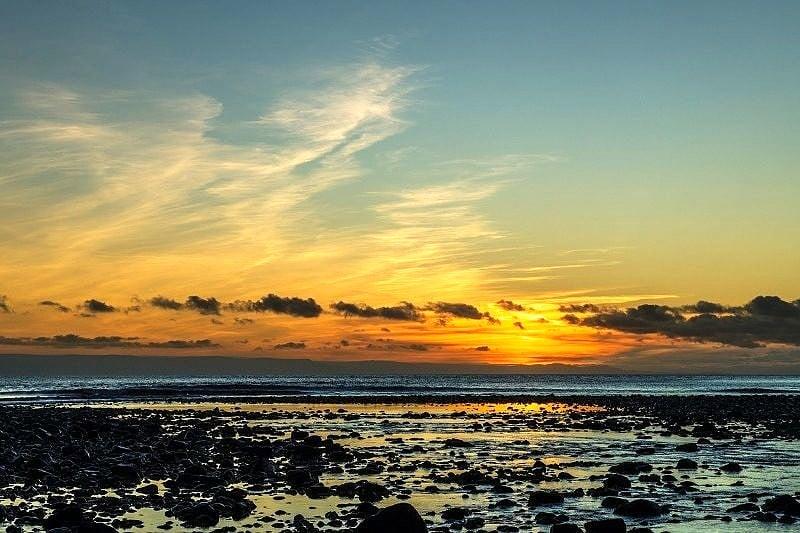 Sunset Over Llantwit Major Beach