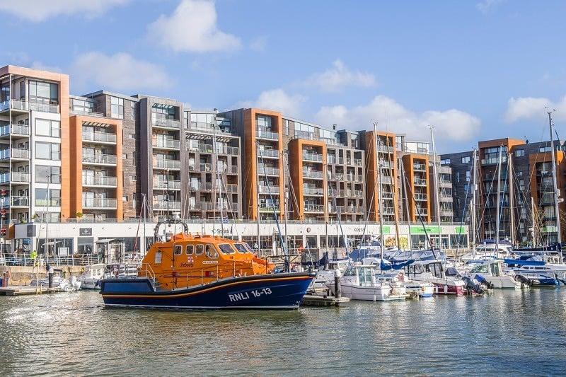 Portishead Marina and Lifeboat - Photographic Print