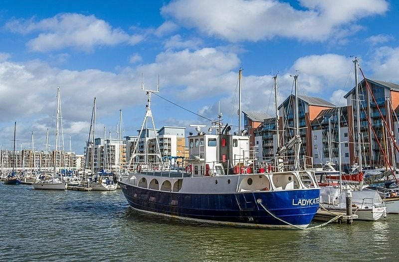 Portishead Marina and Moored Boats