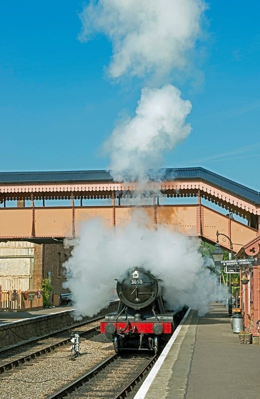 Steam Train Leaving Williton Station Somerset