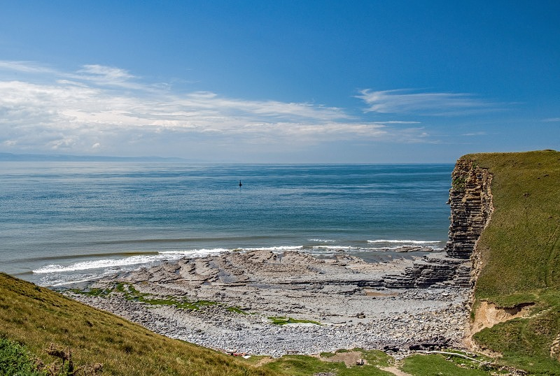 Nash Point Beach Glamorgan Heritage Coast View