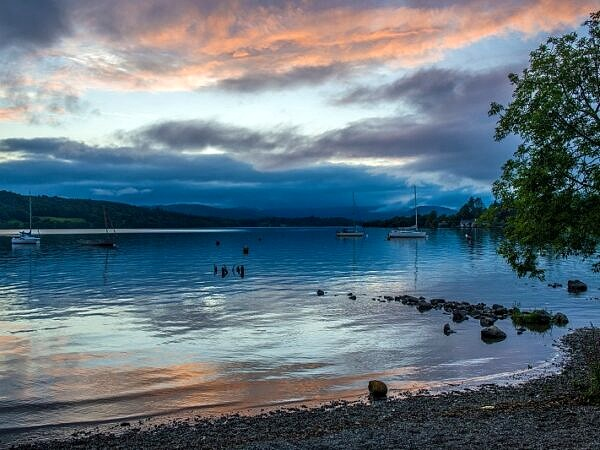 The Shore of Windermere on a Summer Evening