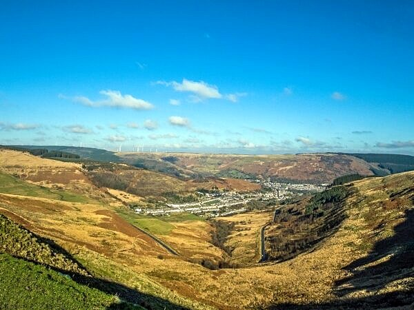 The Upper Rhondda Valley from the Bwlch