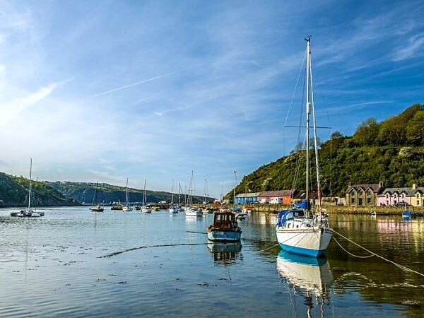 Abergwaun  Harbour on a Calm Evening