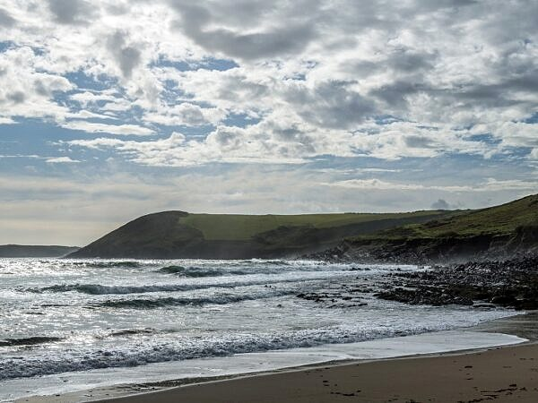Manorbier Beach Pembrokeshire May