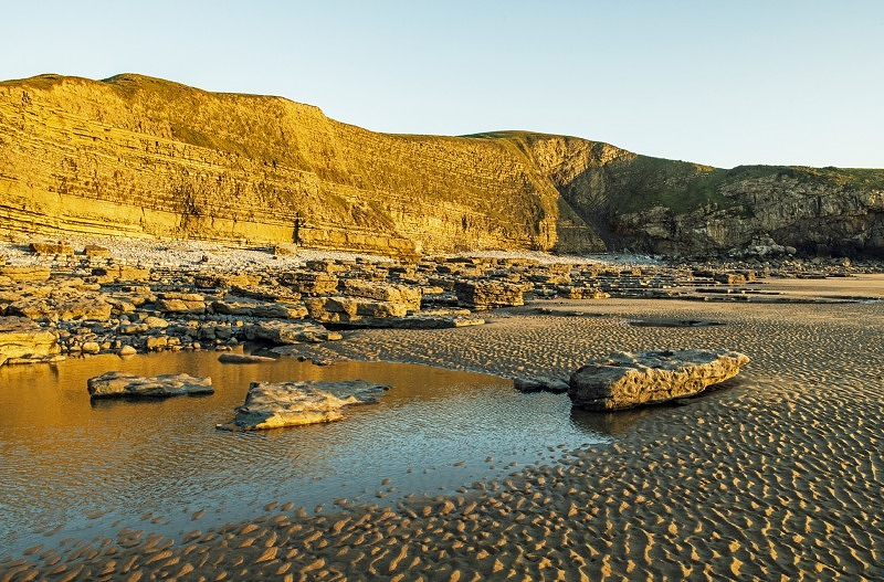 Dunraven Bay on a November evening