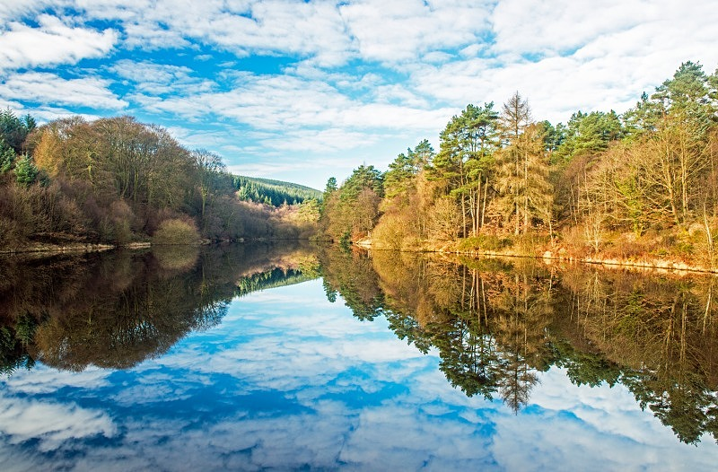 The Llanwonno or Clydach Reservoir Llanwonno Forest