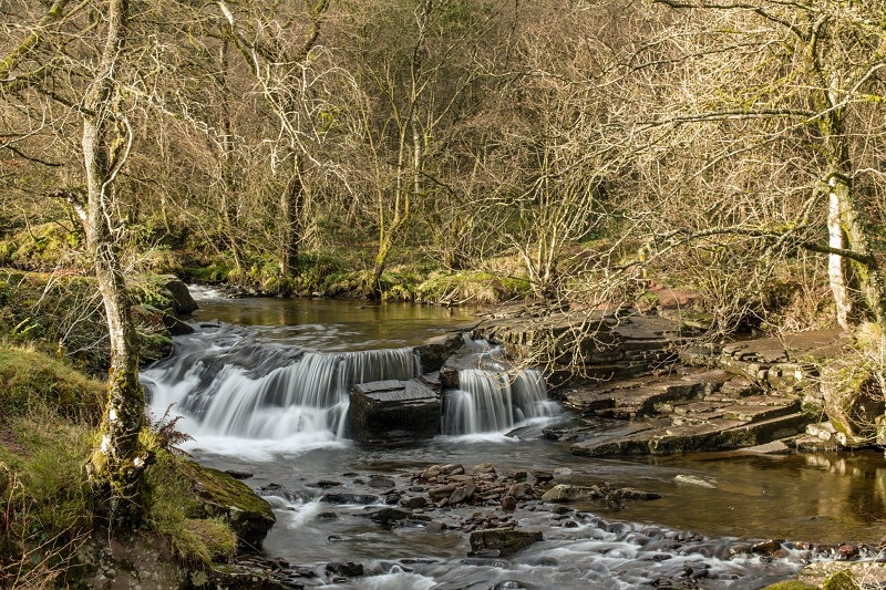 Waterfall at Pont Cwm y Fedwen Brecon Beacons